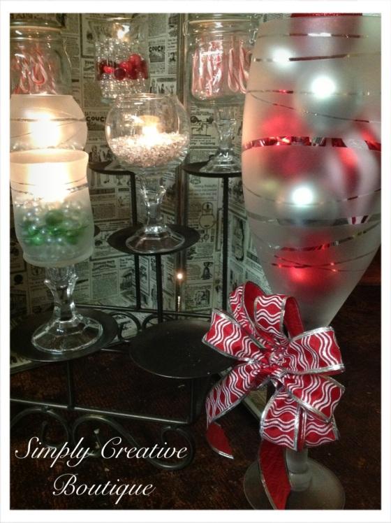 Holiday Wine Glass
